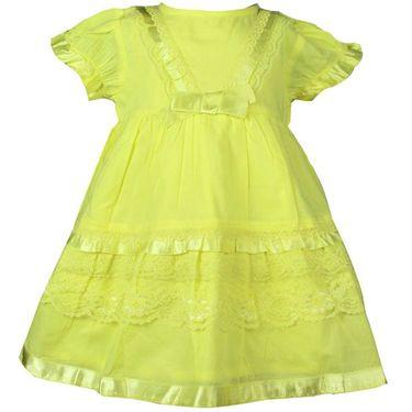 ShopperTree Yellow Cambric Lace Dress_ST-1417