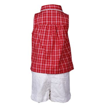 ShopperTree Check Top with Hemla Short Set_ST-1359