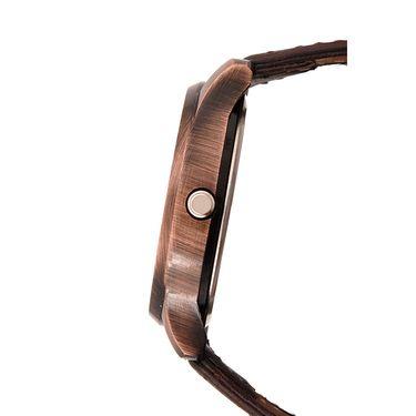 Dezine Round Dial Leather Wrist Watch For Men_0401blkbrw - Black