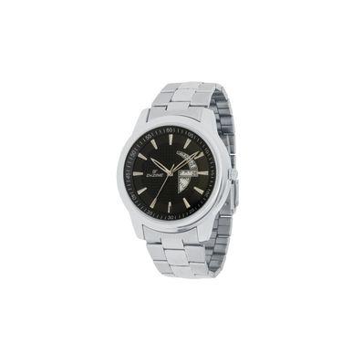 Dezine Round Dial Metal Wrist Watch For Men_1010blkch - Black