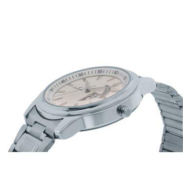 Dezine Round Dial Metal Wrist Watch For Men_1010whtch - White
