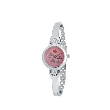 Dezine Round Dial Metal Wrist Watch For Women_3000pnkch - Pink