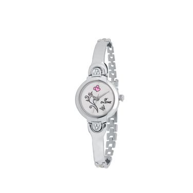 Dezine Round Dial Metal Wrist Watch For Women_3000whtch - White