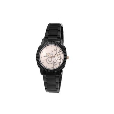 Dezine Round Dial Metal Wrist Watch For Women_0400whtbch - White
