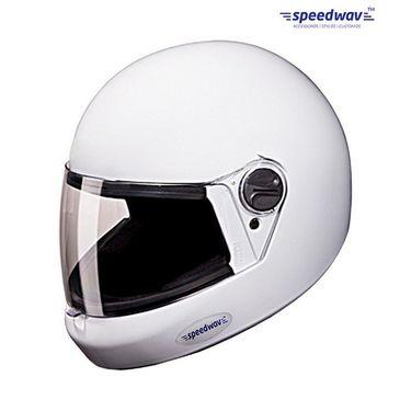 Speedwav Full Face ISI Mark Bike Riding Helmet-WHITE