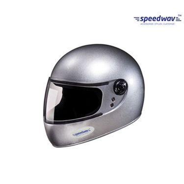 Speedwav Full Face ISI Mark Bike Riding Helmet-Silver