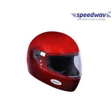 Speedwav Full Face ISI Mark Bike Riding Helmet-Red