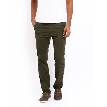 Good karma Cotton Lycra Chinos_gkc300 - Green