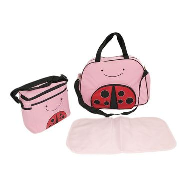 Wonderkids Ladybird Face Print Baby Diaper Bag _CH-050-LFDB
