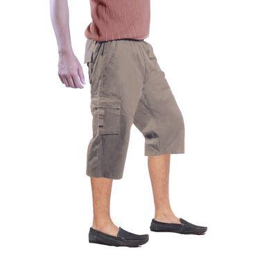 Uber Urban Cotton Shorts_15017kha - Beige