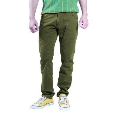 Uber Urban Cotton Trouser_1426dgr - Dark Green