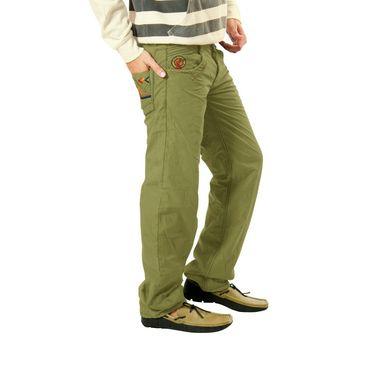 Uber Urban Cotton Trouser_8bndtrsolv - Green