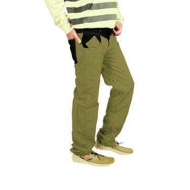 Uber Urban Cotton Trouser_9bndtrsolv - Olive Green