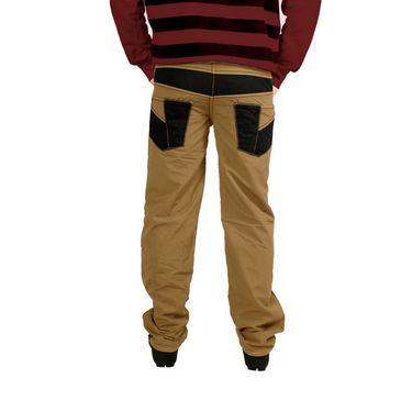 Uber Urban Cotton Trouser_64bndtrsbg - Beige & Black