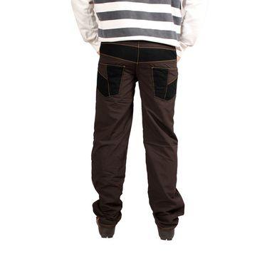Uber Urban Cotton Trouser_4bndtrscbr - Brown & Black