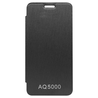 Flashmob Premium Satin Finish Flip Cover For Micromax AQ5000 - Black