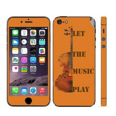Snooky 28367 Digital Print Mobile Skin Sticker For Apple Iphone 5 - Orange