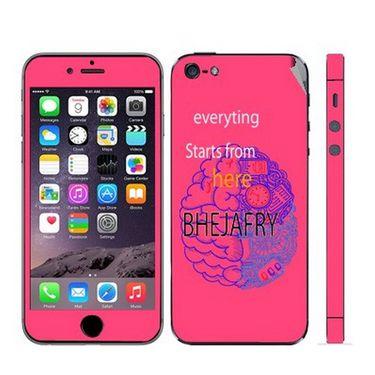 Snooky 28353 Digital Print Mobile Skin Sticker For Apple Iphone 5 - Pink