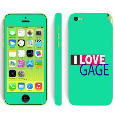 Snooky 28376 Digital Print Mobile Skin Sticker For Apple Iphone 5C - Green