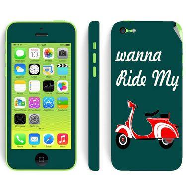 Snooky 28377 Digital Print Mobile Skin Sticker For Apple Iphone 5C - Green