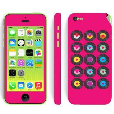 Snooky 28393 Digital Print Mobile Skin Sticker For Apple Iphone 5C - Pink