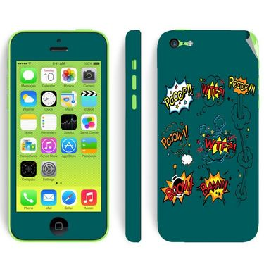 Snooky 28379 Digital Print Mobile Skin Sticker For Apple Iphone 5C - Green