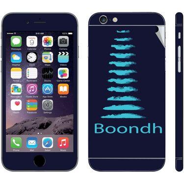 Snooky 28450 Digital Print Mobile Skin Sticker For Apple Iphone 6 Plus - Blue