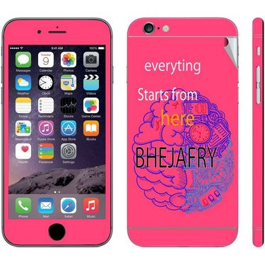 Snooky 28434 Digital Print Mobile Skin Sticker For Apple Iphone 6 Plus - Pink