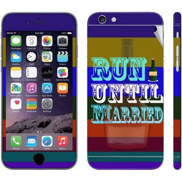 Snooky 28426 Digital Print Mobile Skin Sticker For Apple Iphone 6 Plus - Multi