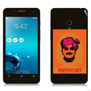 Snooky 27661 Digital Print Mobile Skin Sticker For Asus Zenfone 5 A501CG - Black