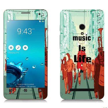 Snooky 27652 Digital Print Mobile Skin Sticker For Asus Zenfone 5 A501CG - Multi