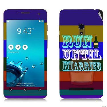 Snooky 27638 Digital Print Mobile Skin Sticker For Asus Zenfone 5 A501CG - Multi