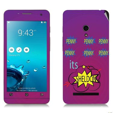 Snooky 27655 Digital Print Mobile Skin Sticker For Asus Zenfone 5 A501CG - Purple