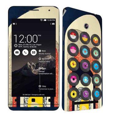 Snooky 27683 Digital Print Mobile Skin Sticker For Asus Zenfone 6 A600CG/A601CG - Multi