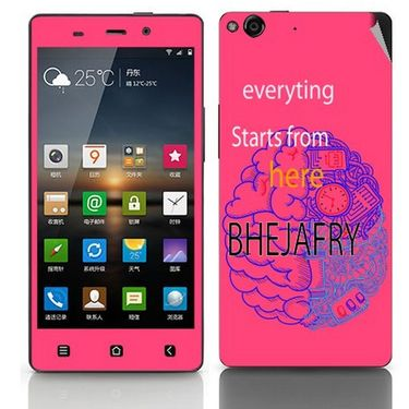 Snooky 27754 Digital Print Mobile Skin Sticker For Gionee Elife E6 - Pink
