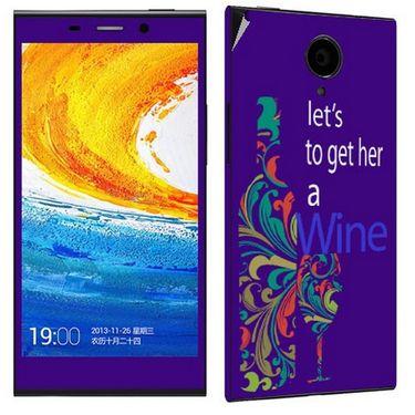 Snooky 27782 Digital Print Mobile Skin Sticker For Gionee Elife E7 - Purple