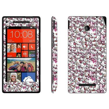 Snooky 28182 Digital Print Mobile Skin Sticker For HTC 8X C620E - Multi