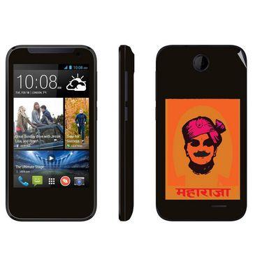 Snooky 27823 Digital Print Mobile Skin Sticker For HTC Desire 310 - Black