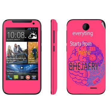Snooky 27808 Digital Print Mobile Skin Sticker For HTC Desire 310 - Pink