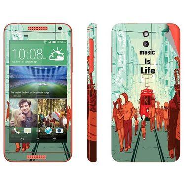 Snooky 28087 Digital Print Mobile Skin Sticker For HTC Desire 610 - Multi
