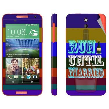 Snooky 28073 Digital Print Mobile Skin Sticker For HTC Desire 610 - Multi