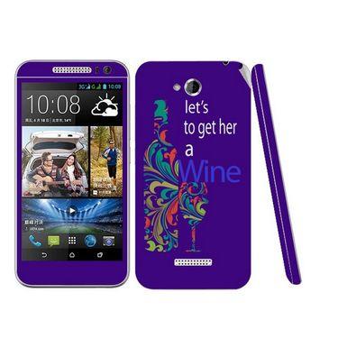 Snooky 28192 Digital Print Mobile Skin Sticker For HTC Desire 616 - Purple