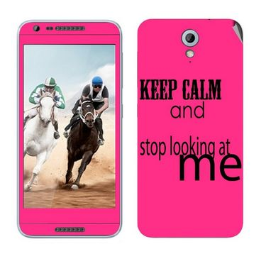 Snooky 28216 Digital Print Mobile Skin Sticker For HTC Desire 820 mini - Pink