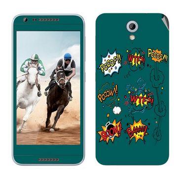 Snooky 28217 Digital Print Mobile Skin Sticker For HTC Desire 820 mini - Green