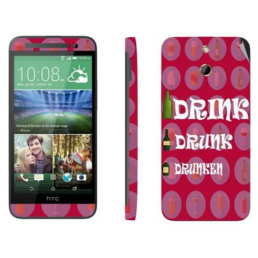 Snooky 28238 Digital Print Mobile Skin Sticker For HTC One E8 - Pink
