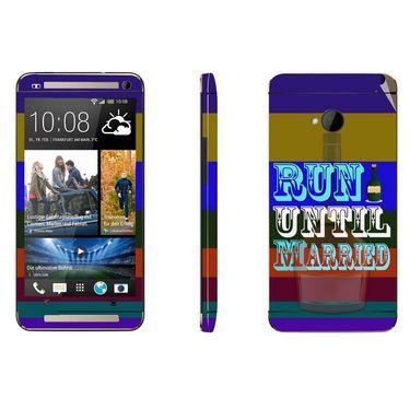 Snooky 28264 Digital Print Mobile Skin Sticker For HTC One M7 - Multi