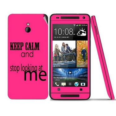 Snooky 28297 Digital Print Mobile Skin Sticker For HTC One mini - Pink