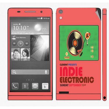 Snooky 28334 Digital Print Mobile Skin Sticker For Huawei Ascend P6 - Multi