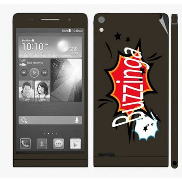 Snooky 28321 Digital Print Mobile Skin Sticker For Huawei Ascend P6 - Multi