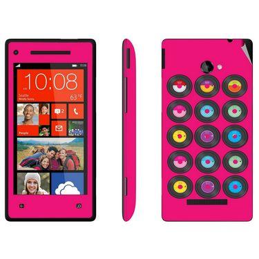 Snooky 28177 Digital Print Mobile Skin Sticker For HTC 8X C620E - Pink